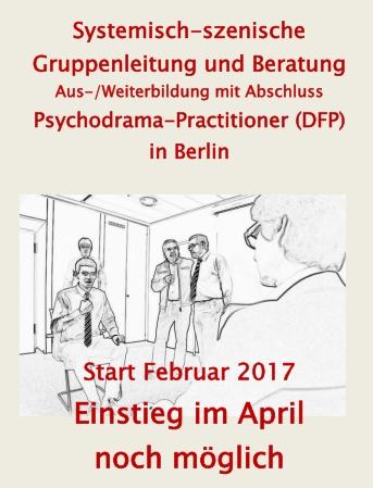 Aktuell: Psychodrama Grundstufen Ausbildung in Berlin